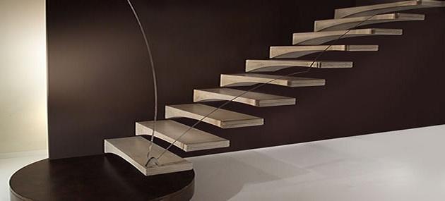 Beige Treppenstufen