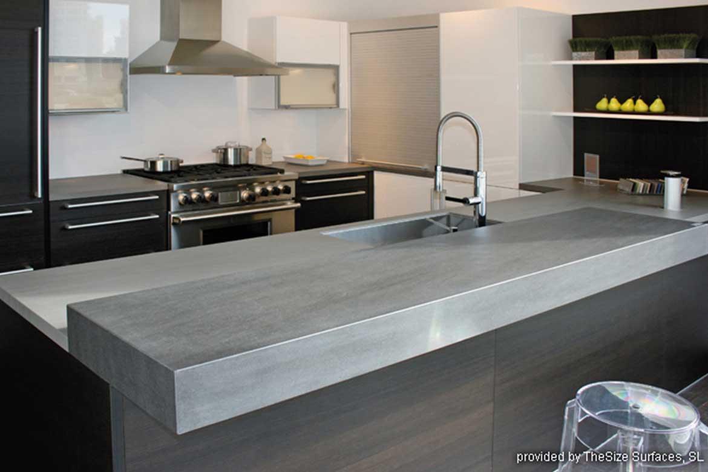Küchenarbeitsplatte in Grau von Valente
